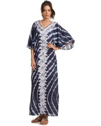 Trina Turk Maxi Nedelia Dress blue - Lyst