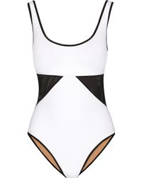 Karla Colletto Powernet Mesh-Paneled Underwired Swimsuit - Lyst