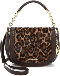 Michael by Michael Kors Printed Haircalf Stanthorpe Shoulder Bag - Leopard - Lyst