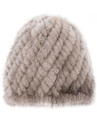 Pologeorgis - The Knit Mink Taupe Skully - Lyst