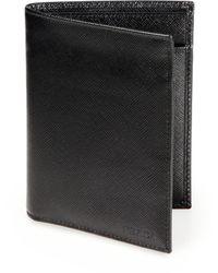 Prada Saffiano Leather Card Case - Lyst