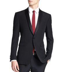 Burberry London Latham Shawl-Collar Tuxedo Jacket - Lyst