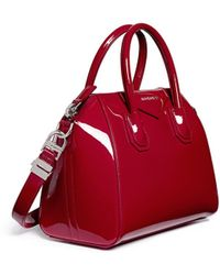 Givenchy Antigona' Small Patent Leather Bag red - Lyst