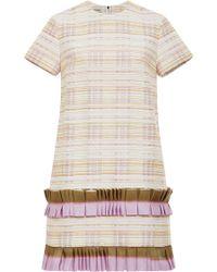 Suno Lavender Nubby Stripes Shift Dress - Lyst