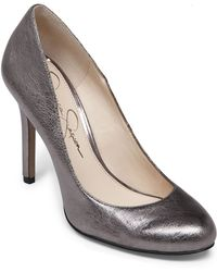 Jessica Simpson Rachel Leather Pumps - Lyst