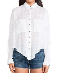 Free People Shibori Siren Button Down - Lyst