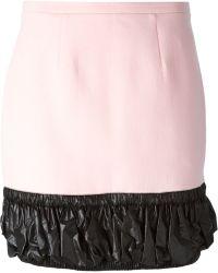 Christopher Kane Shell Trim Skirt - Lyst