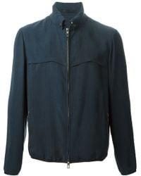 Giorgio Armani Zip Front Jacket blue - Lyst