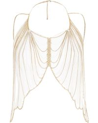 River Island - Gold Tone and White Draped Body Harness - Lyst