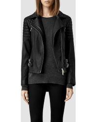 AllSaints Hemming Leather Biker Jacket - Lyst