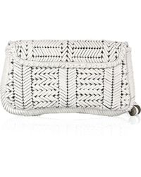 Anya Hindmarch Rossum Woven Leather Clutch - Lyst