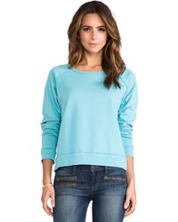 Textile Elizabeth and James - Perfect Sweatshirt in Blue - Lyst