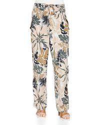 Rag & Bone - Victoria Tie-waist Floral-print Pants - Lyst
