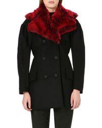 Vivienne Westwood Anglomania Wool Blend Coat Black - Lyst