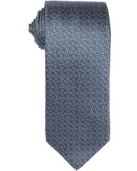 Gucci Blue Horsebit Pattern Silk Tie - Lyst
