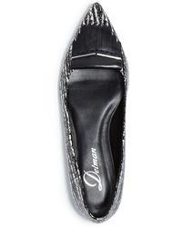 Delman - Pointed Toe Flats - Sade Printed Fringe - Lyst