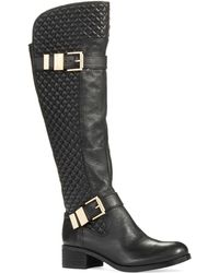 Vince Camuto Faris Quilted Riding Boots - Lyst