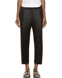 Acne Studios Black Wide_Leg Eora Trousers - Lyst