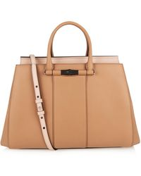 Gucci Lady Bamboo Leather Tote - Lyst