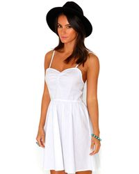 Missguided Tulissa Strappy Skater Dress In White - Lyst