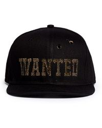 Piers Atkinson - 'wanted' Strass Bullet Hole Baseball Cap - Lyst