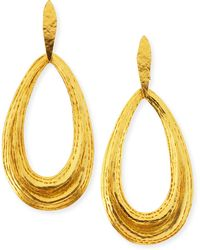 Herve Van Der Straeten Salome Teardrop Clipon Earrings - Lyst