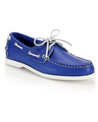 Ralph Lauren Telford Leather Boat Shoes - Lyst