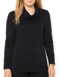 Ralph Lauren Lauren Plus Cowl Neck Sweater - Lyst
