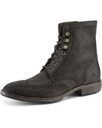 Andrew Marc Hillcrest Perforated Detail Suede Boot - Lyst