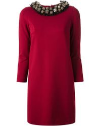 DSquared2 Red Embellished Dress - Lyst