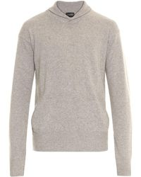 Hanro - Shawl-neck Knit Sweater - Lyst