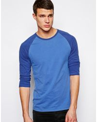 Asos 34 Sleeve Tshirt with Contrast Raglan Sleeves - Lyst