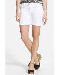 Big Star Alex Denim Shorts white - Lyst