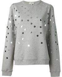 Lulu & Co | Polka Dot Sweatshirt | Lyst