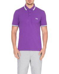 Hugo Boss Paddy Contrast-Trim Polo Shirt - For Men - Lyst