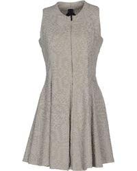 Gareth Pugh Gray Short Dress - Lyst