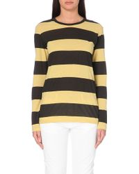 Etoile Isabel Marant Striped Cotton T-Shirt - For Women - Lyst