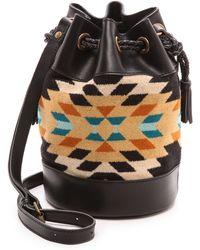 Pendleton - Small Bucket Bag Rancho Arroyo Black - Lyst