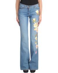Philosophy di Alberta Ferretti Denim Pants - Lyst