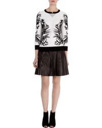 Karen Millen Jungle Jacquard Sweatshirt - Lyst