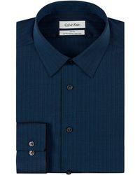 Calvin Klein Slim Fit Pencil Stripe Dress Shirt - Lyst