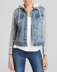 Two By Vince Camuto - French Terry Hooded Denim Jacket - Lyst