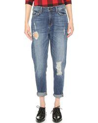 Siwy - Amy High Rise Girlfriend Jeans - Neon Blush - Lyst