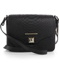 Furla Exclusively For Saks Fifth Avenue Angel Small Snake-Embossed Shoulder Bag - Lyst