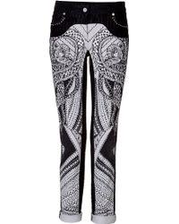 Roberto Cavalli Snake Printed Jeans - Lyst