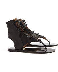 By Malene Birger Tallia Lace Up Thong Sandal - Lyst
