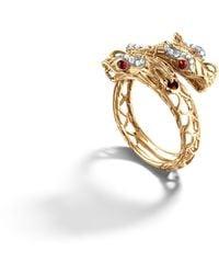 John Hardy Double Dragon Head Ring. - Lyst