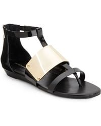 BCBGMAXAZRIA - Angelika Faux Leather Thong Sandals - Lyst