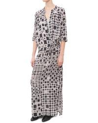 Humanoid Native Long Dress gray - Lyst