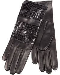 Imoni Crocodile Effect Panel Glove - Lyst